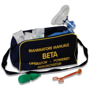 Kit completo per la rianimazione cardiopolmonare con pallone ambu