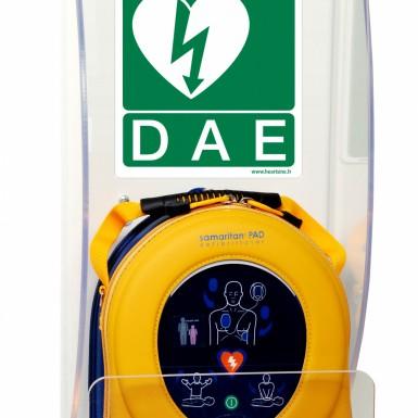 Supporto da parete in plexiglass per defibrillatori automatici esterni