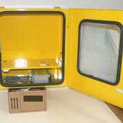 Armadietto in acciaio da esterno per defibrillatori DAE con allarme e termoregolazione