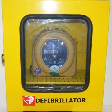 Armadietto in acciaio da esterni per defibrillatori