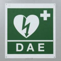 Cartello alluminio segnalazione defibrillatore DAE