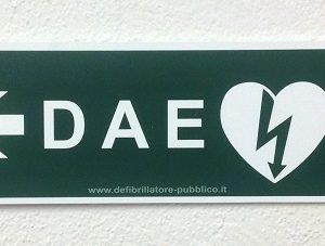 Cartello forex direzionale per postazioni DAE - sinistra