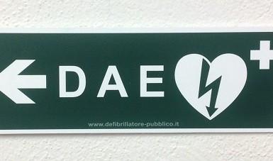 Cartello forex direzionale per postazioni DAE – sinistra