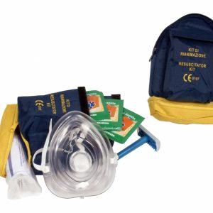 Kit completo per intervento con defibrillatore