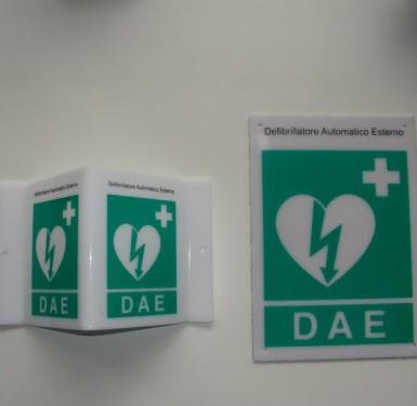 Kit murale segnalazione defibrillatore DAE