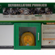 Pannello murale in Forex per defibrillatori DAE