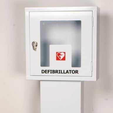 Piantana per armadietto per defibrillatori DAE