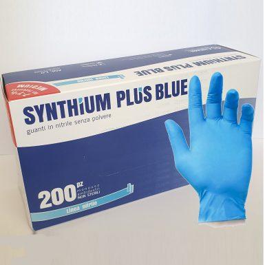 Synthium Plus Blue – guanti monouso in nitrile 200 Pezzi
